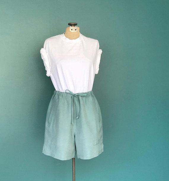raw silk mint shorts.jpg