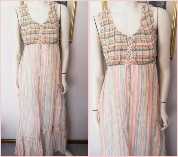 gauze striped smocked dress.jpg