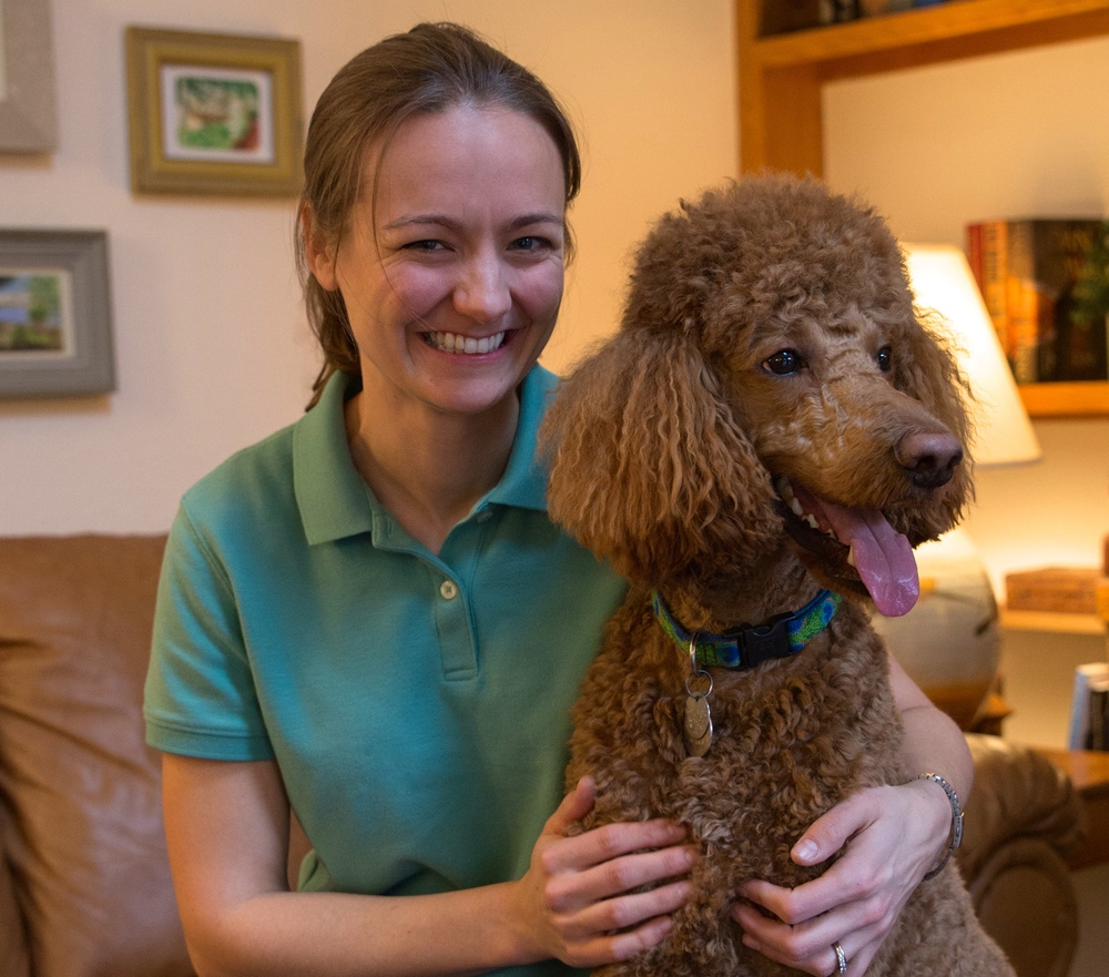 Dr, Taryn Rathbone and her dog Sherlock