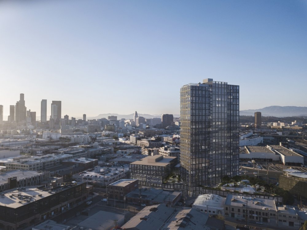 Rendering of an upcoming project: 520 Mateo in LA. Credit:  Works Progress Architecture