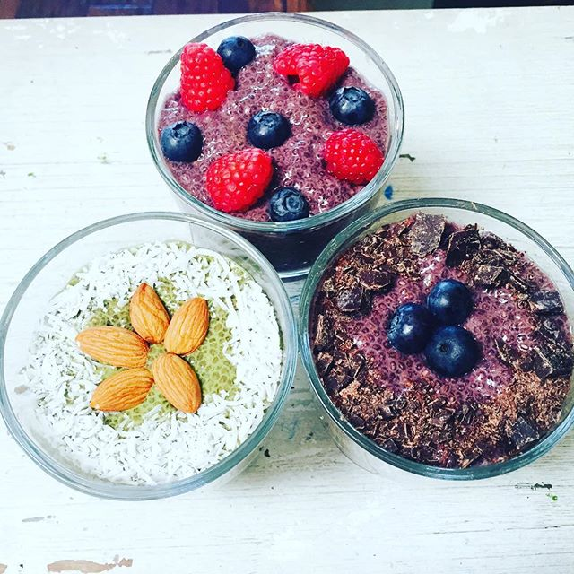 Chia pudding - creamy, rich and vegan #veganfood #organic #eathealthy #staypositive #behappy