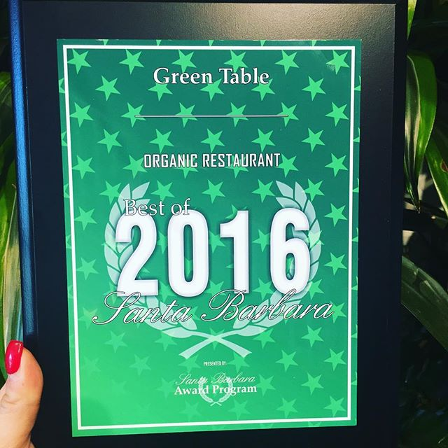 Check it out! Awarded best organic restaurant in town..... Super honored with much more coming soon! 2017 is going to be an even better year.. Stay healthy my friends💚 #organiclove #healthiswealth #santabarbara #supportlocal
