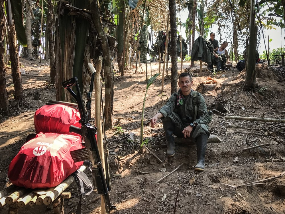 Bags ready, « caletas » dismounted, the guerrilleros of the 14 and 15th Front are waiting the commander Ivan Marquez, UN and government delegates to begin their move to the transition zone at Montañita.