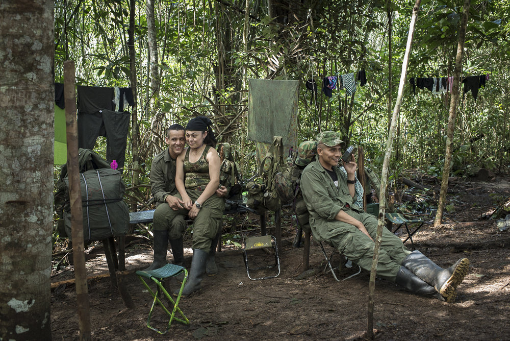 Some quiet moments in a FARC camp. (June 27, 2016,South Caquetá)