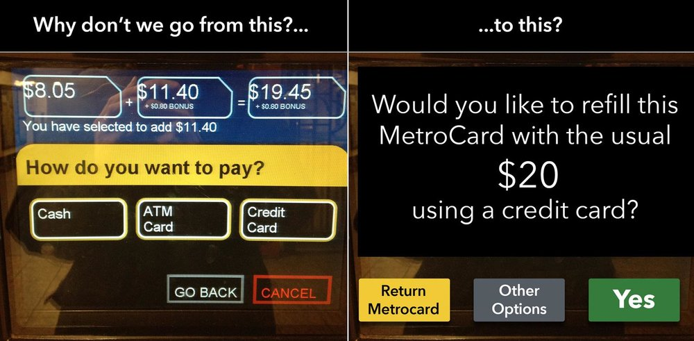 "A ""dumb"" user interface that requires a lot of input vs. one that's ""anticipatory""?"