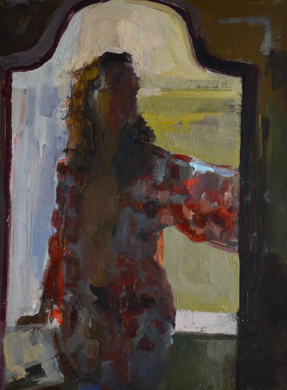Girl in a Silk Robe
