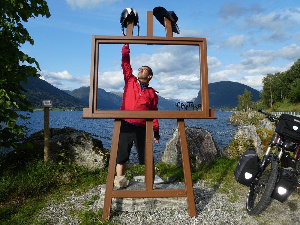 Thomas Lis mit seinem eBike in Norwegen.