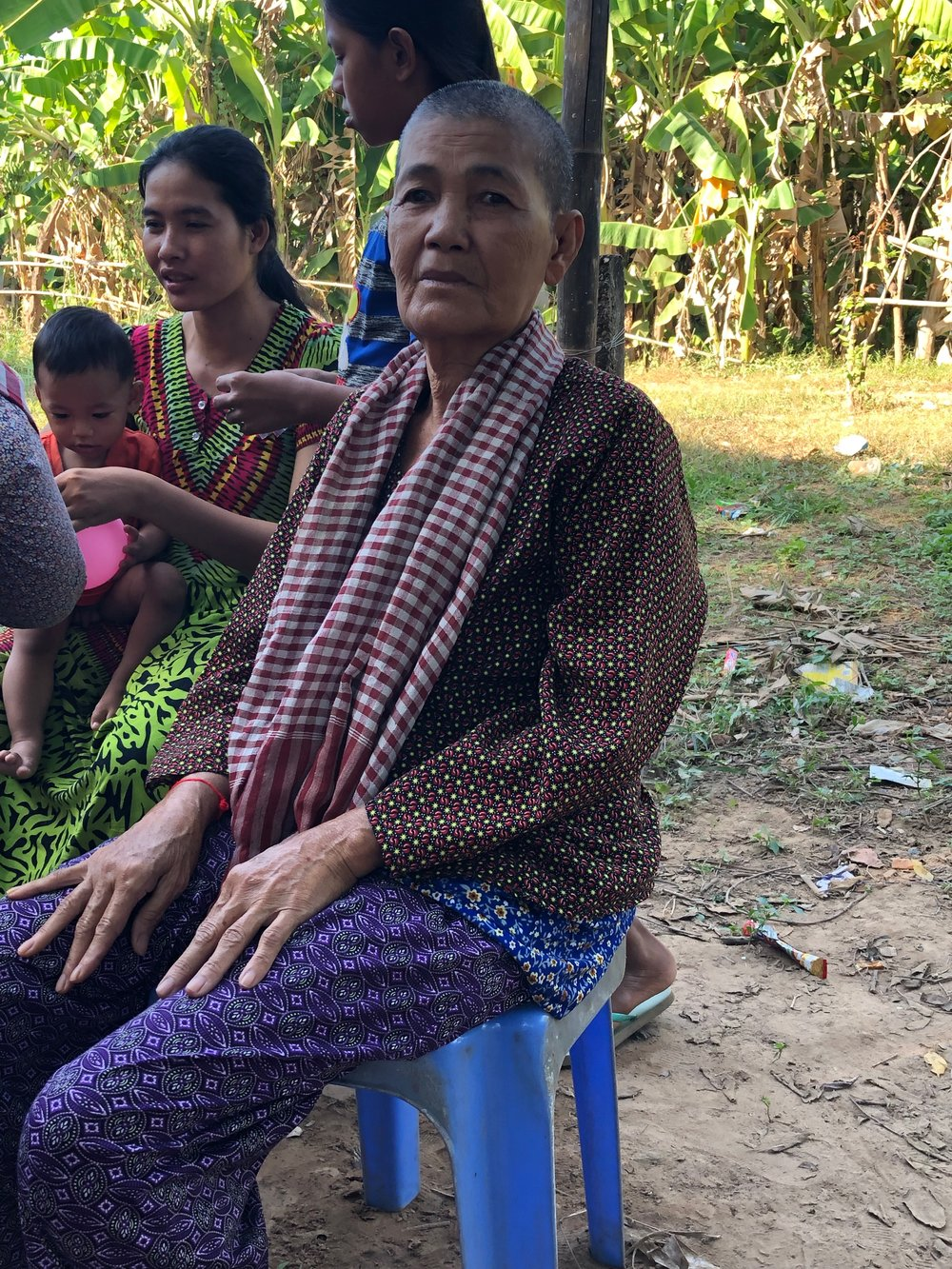 - We visited a church on an island in the Mekong and distributed medicine there. We offered prayer for anyone who was ill or injured. The lady shown in this photo had asked for prayer when we visited this village the year before. She was close to death and was told she only had a short time to live. We prayed for her last year. Two days after we left the village last year she was totally better. It was SO great to see her this year fit and well and very thankful for her healing.
