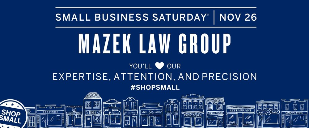 small business saturday mazek law 2016