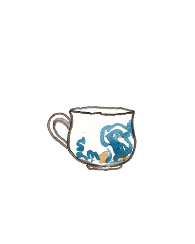 London, England   Caudle Cup, 1669  Tin-glazed earthenware, 1972.7