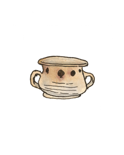 Unknown origin   Cup, 1730-1750  Slip decorated earthenware,1991.20