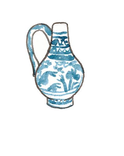 Possibly Christian Wilhelm (fl 1604 - 1630) Pickleherring Quay Factory (Southwark, London)   Bottle, ca. 1628  Tin-glazed earthenware, 1993.15