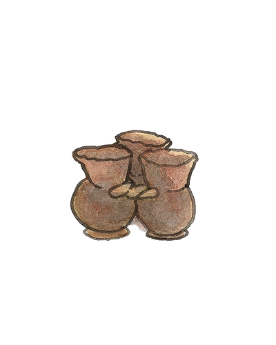 Staffordshire, England   Fuddling Cup, 1700-1725  Lead-glazed earthenware, 2000.44