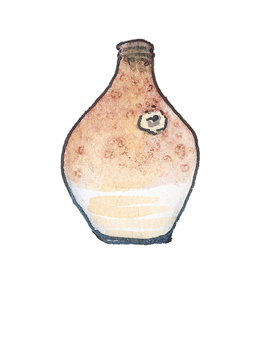 Bristol, England   Bottle, 1710-1720  Salt-glazed stoneware, 2002.10