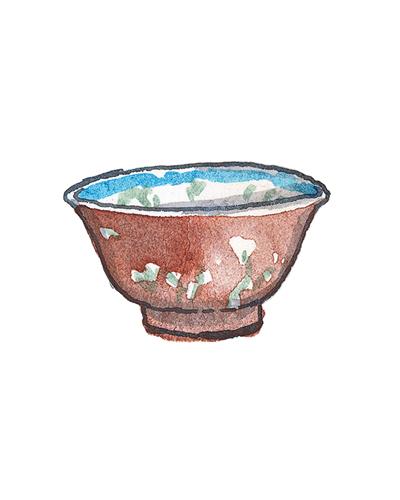 China and London, England   Bowl, 1680-1700  Porcelain, enamel, 2004.7