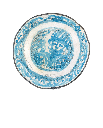 Spanish   Charger, ca. 1650  Tin-glazed earthenware, 2016.9