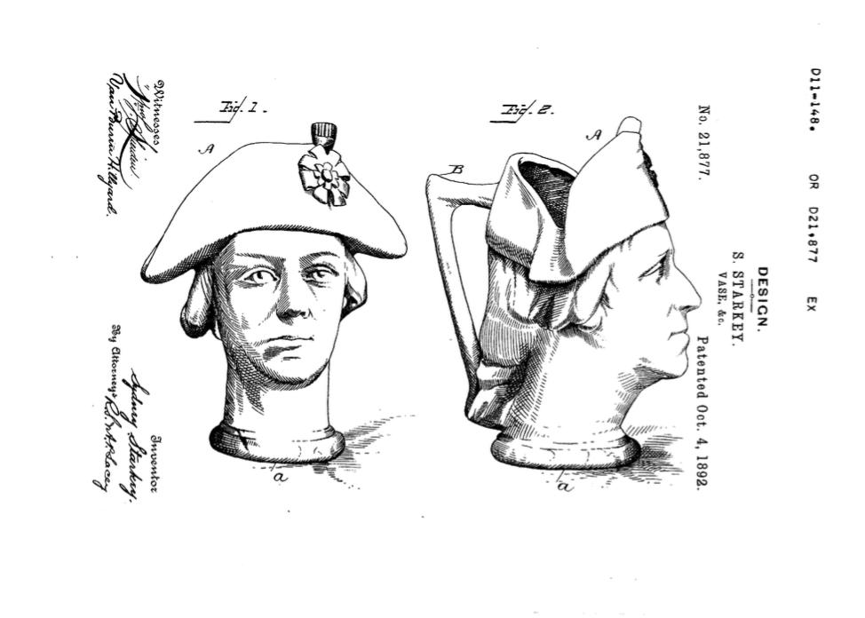 US Patent 21,877, Design for a Vase