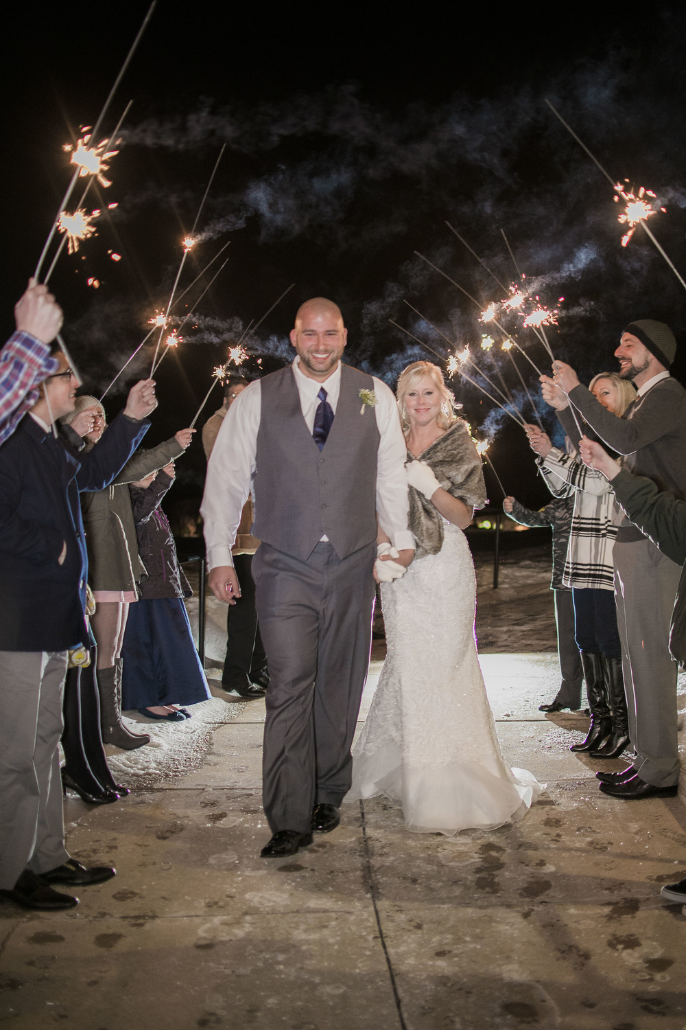 winter-wedding-sparkler-exit