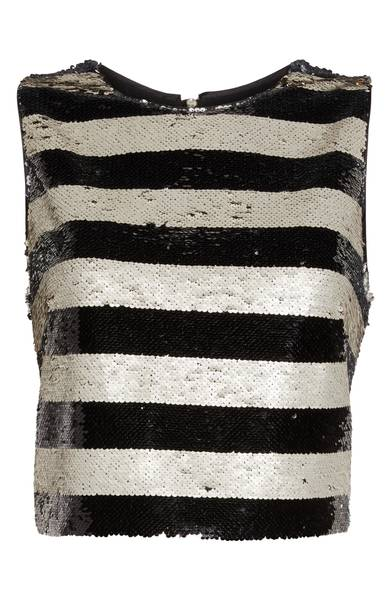 Eliza J Sequin Stripe Top