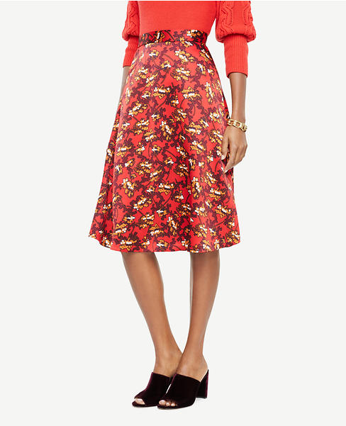 Ann Taylor Satin Skirt