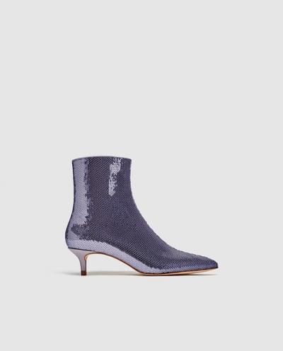Zara Sequin Boots, $80