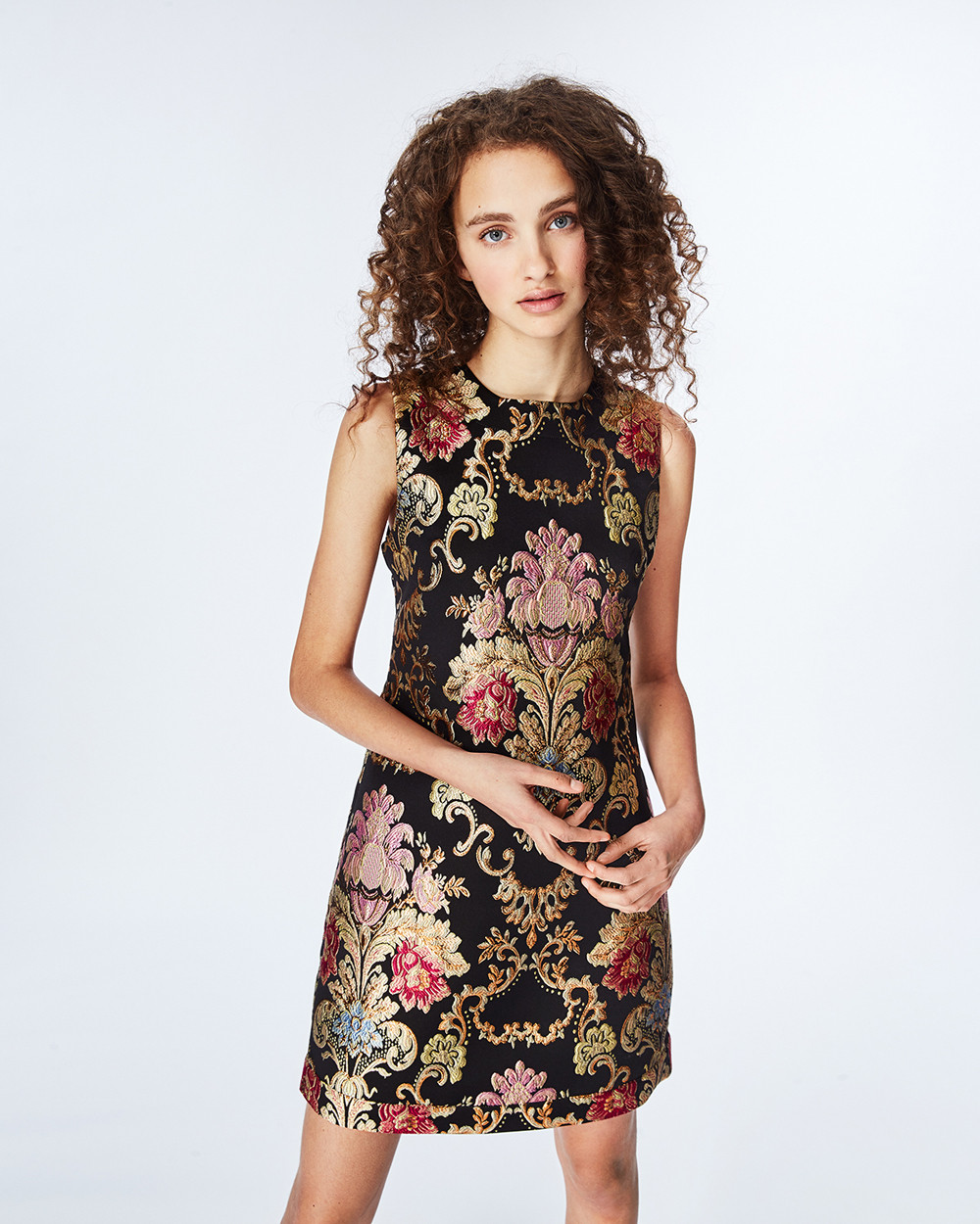 Nicole Miller Juno Lace Up Dress, $440