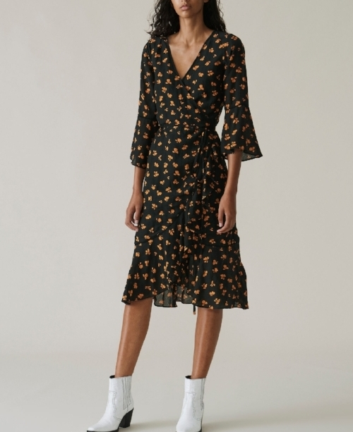 Ganni Beacon Wrap Dress, $293