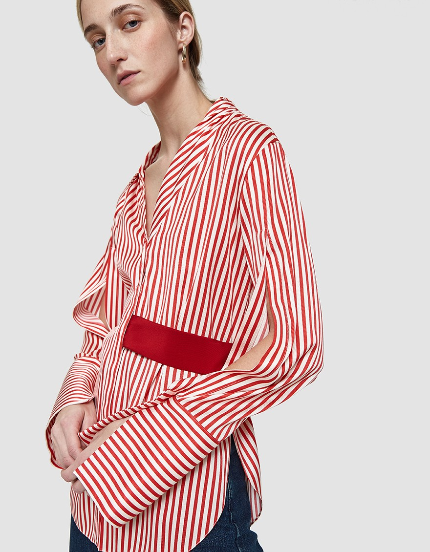 Hellessy Asymmetrical Shirt, $890