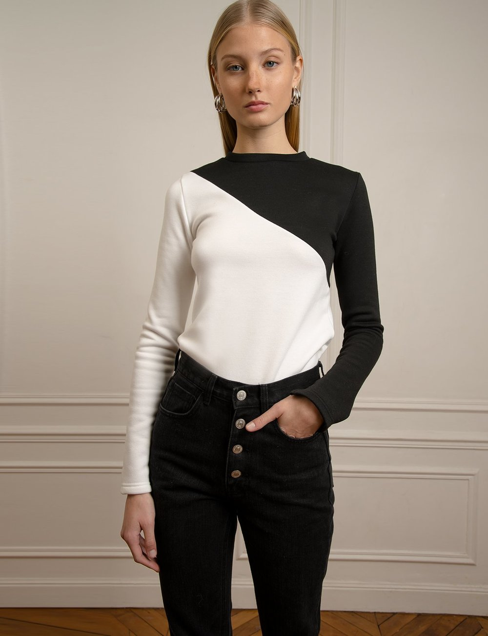 Black and White Top, $49