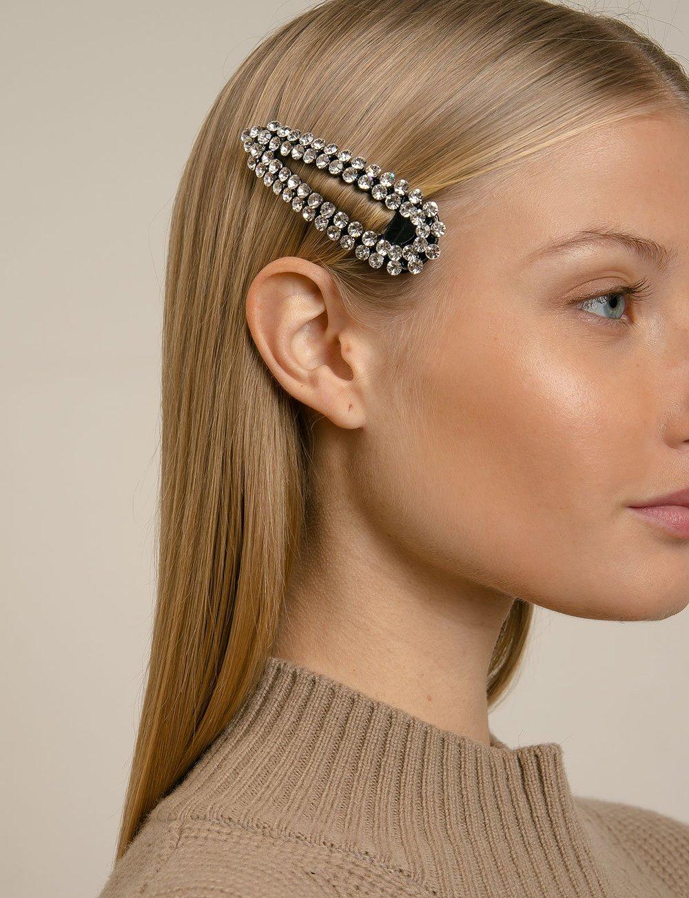Diamond Hair Barrette, $20
