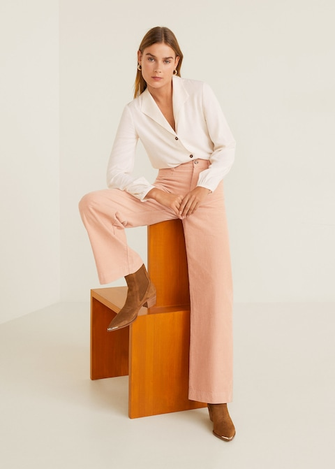 Corduroy Straight Trousers, $79.99