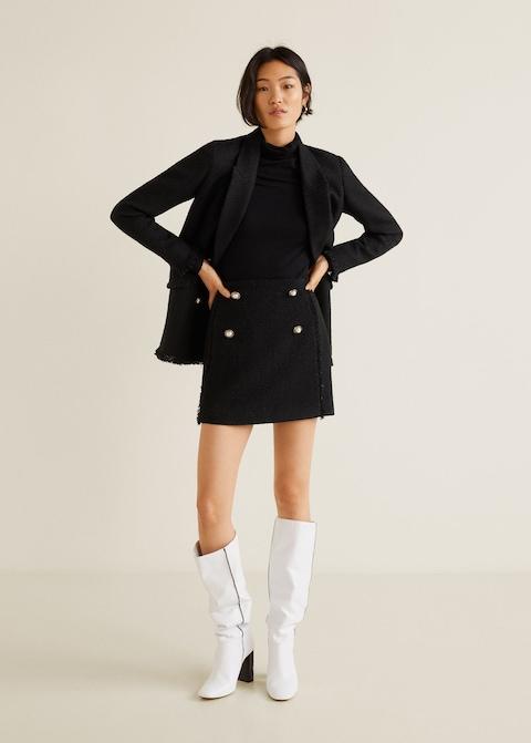 Tweed Miniskirt, $59.99