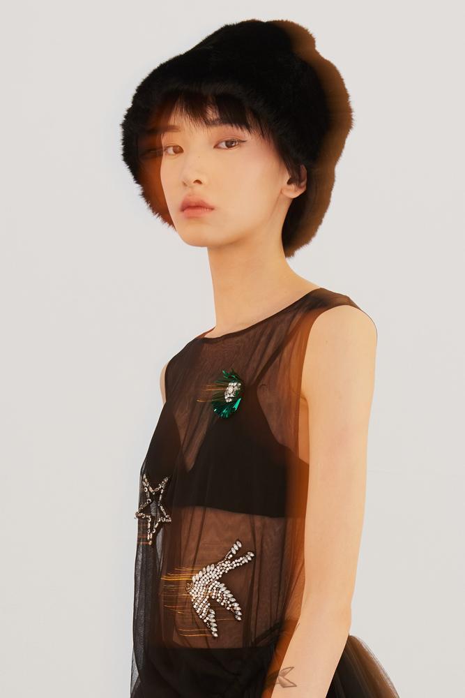 Black Faux Fur Hat, $27.55