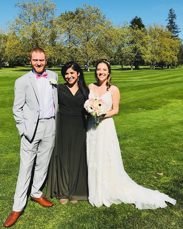 I'm still smiling from last night's wedding! What a joy to marry such a joyful duo! Congratulations on marrying your favorite dance partner 🤗 💜✨#oncloudnemeth
