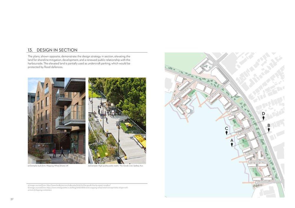 Gareth Ringrose. Master of Urban Design Thesis. 2014. Section Plan