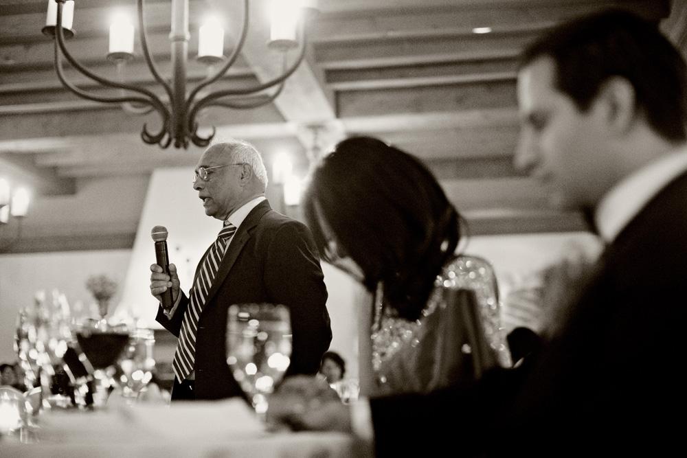 Prayer before dinner at Sassi wedding