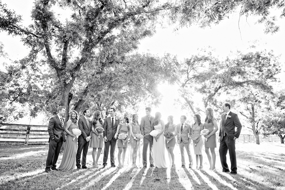 Wedding party at The Farm at South Mountain
