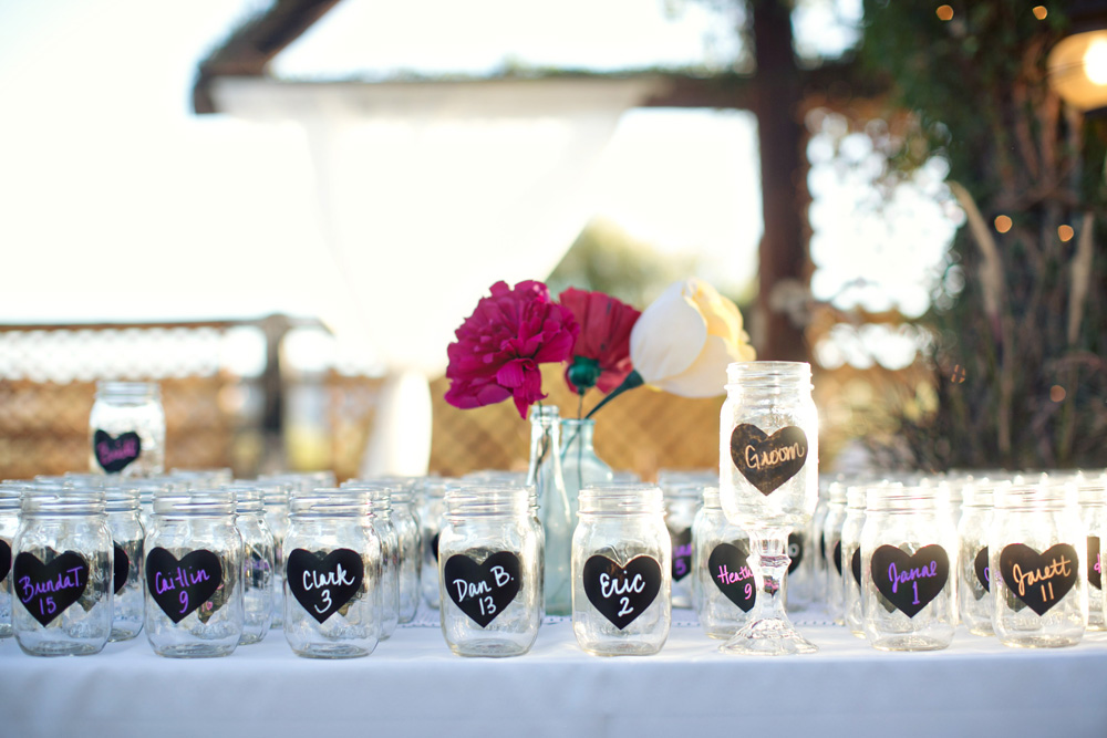 Mason Glasses wedding details at The Farm at South Mountain