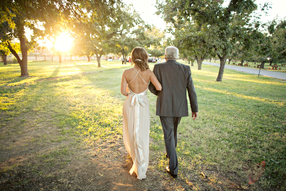 Dad walks Shelby down aisle at The Farm at South Mountain