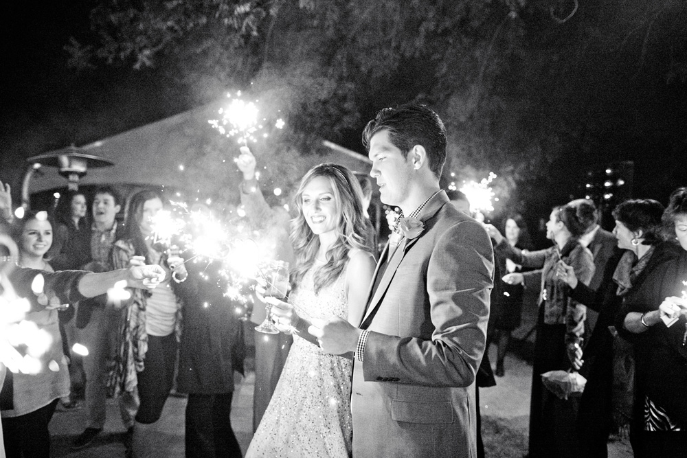 Sparklers at The Farm at South Mountain