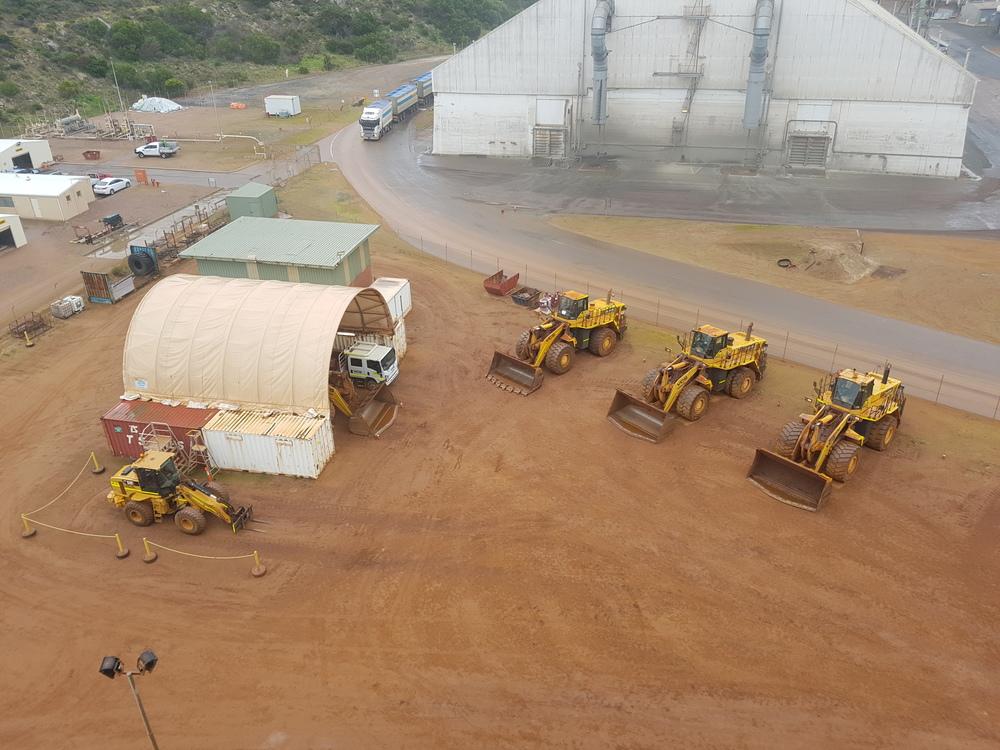 Esperance iron ore out loading