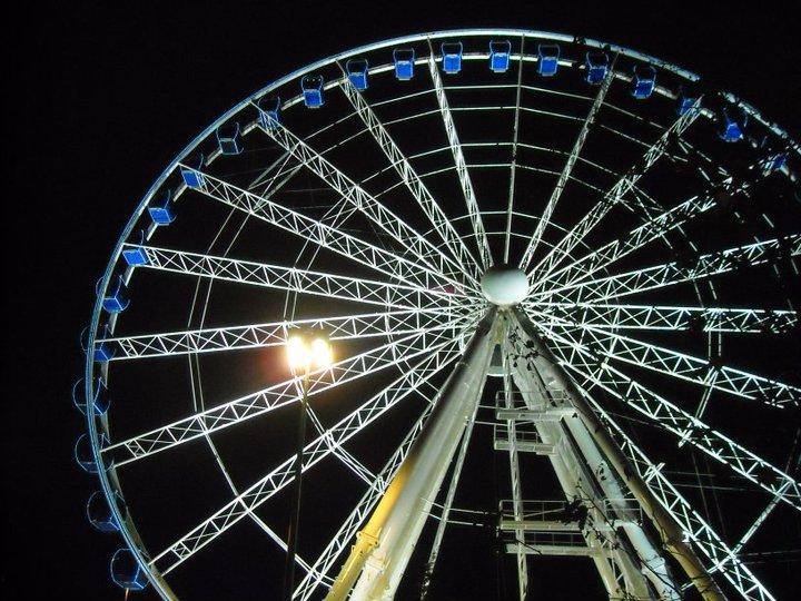 Ferris Wheel in Place Bellecour for the Fete des Lumieres