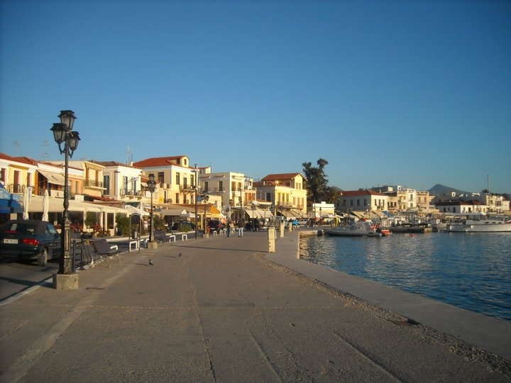 The heart of Aegina Island: the small yet vibrant town centre