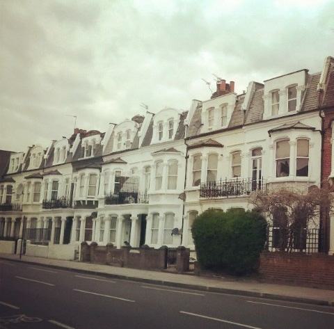Our new street in Fulham. Quintessential London houses