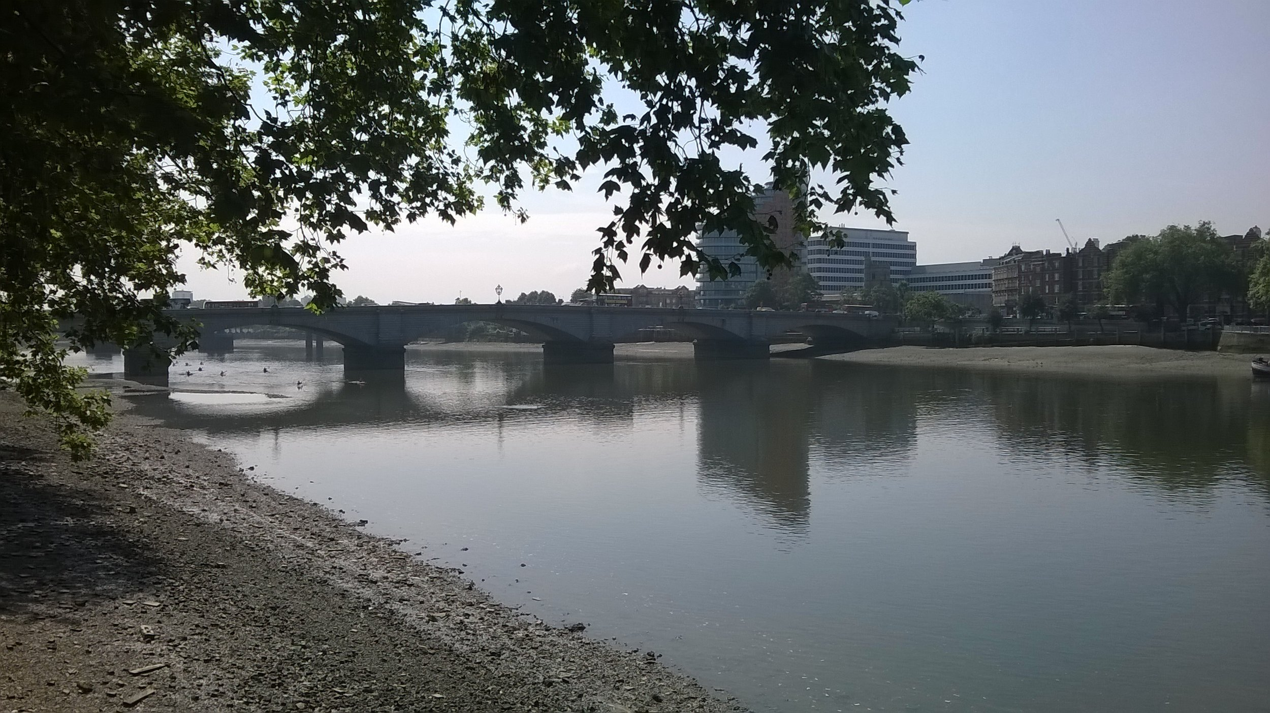 Walking to Putney Bridge, where I did most of my soul searching. Always a relief to see the murky Thames.