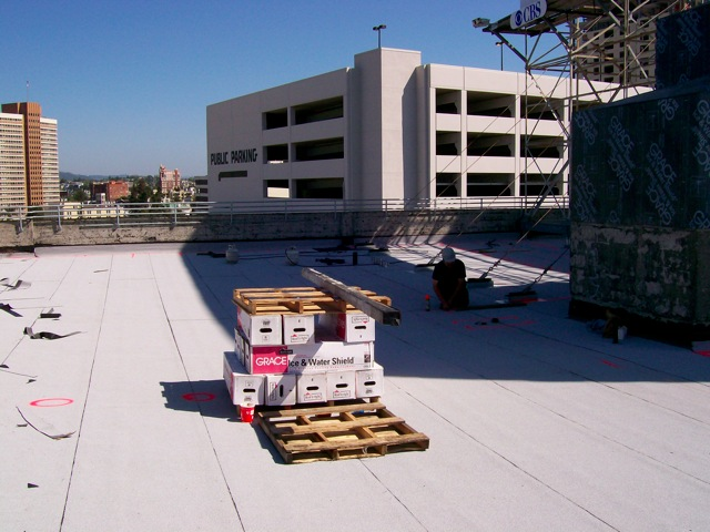 Roof top deck before