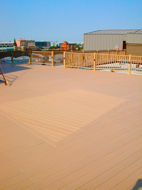 Roof top deck after
