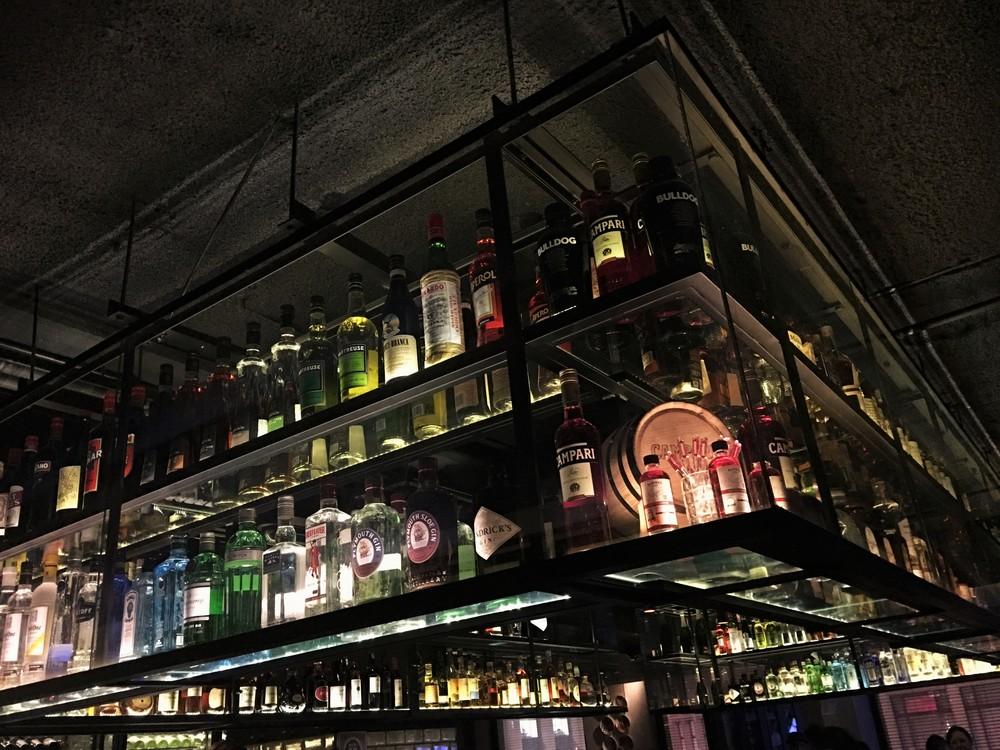 Gowings Bar display