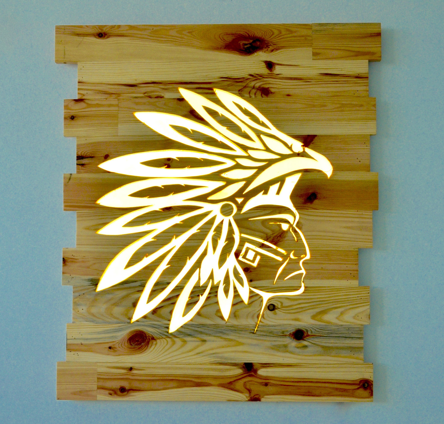 WOOD FIXTURE - ITEM NO. 2: RECYCLED WOOD NATIVE INDIAN WALL LIGHT ...