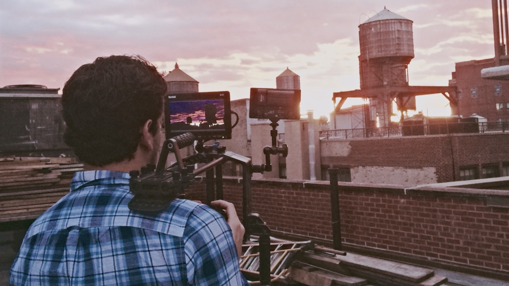 Dan Zelikman captures a New York City sunset from a rooftop building. (Photo: David Baumwoll)